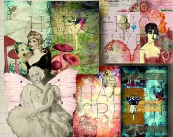 Fairy Journal  Digital Journal Kit  FAIRY DANCE  Printable Journal Kit  Junk Journal  printable journal  smash book  art journal kit