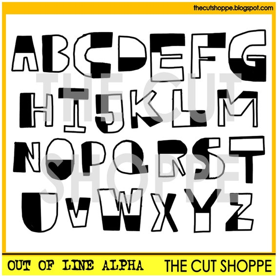 The Out of Line Alpha is an alphabet cut file set, that can be used on your scrapbooking and papercrafting projects.