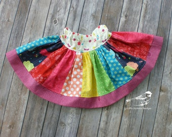 12-18 Month Toddler girls skirt rainbow Twirly skirt ready to ship pink purple red blue yellow baby skirt orange green polka dots floral