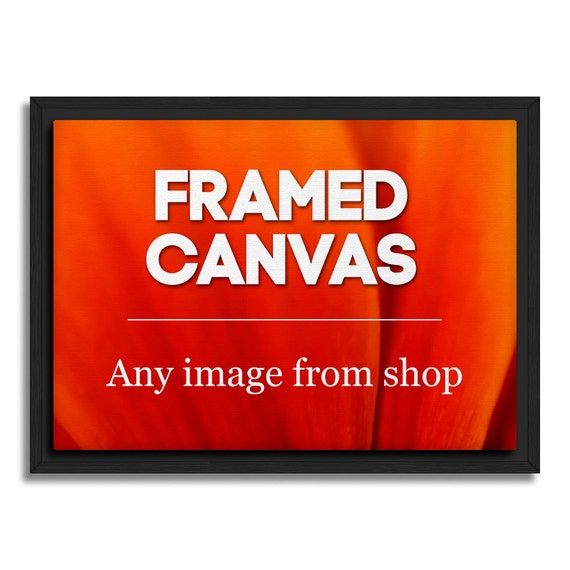 Floating Frame Canvas, Wall Decoration, Any Image From Shop, Canvas Print With Frame, Framed Canvas, Framed Art, Black, Walnut Frame