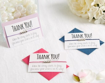 Thank You Gift - Thank You Wish Bracelet - Thank You Card