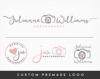 Premade Logo Design, Camera Logo, Calligraphy Logo, Handwritten Logo, Photography Logo, Sub marks + Watermarks, Branding Kit