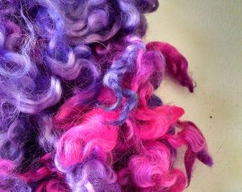 Teeswater Locks - Curls - Hand Dyed Locks - Doll Hair - Spinning - Lockspinning - Felting - Wool Locks - Troll Hair - Blythe - Local Wool