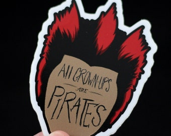 All Grown Ups Sticker Pack - Rufio inspired stickers