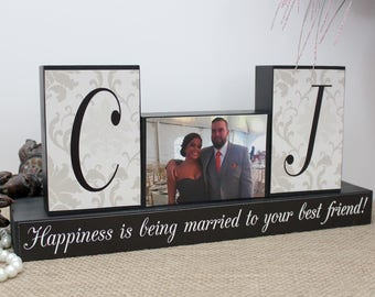 Personalized Unique Wedding Gift for Couples, Wedding Wood Sign, Wedding Shower Gift Ideas, Happiness Is Being Married To Your Best Friend