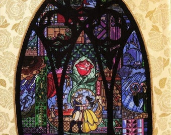 "Disney Classic Beauty and the Beast ""Through the Castle Window"" Wall Decor 11"" X 14"""