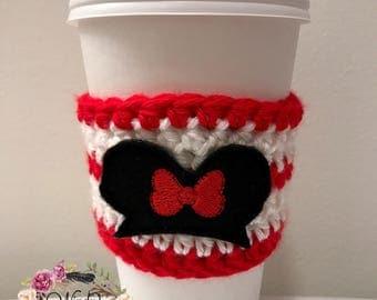 """The """"Ears"""" Cozie / Coffee Cozie / Tea Cozie / Tumbler Cozie / Crochet Cozie"""