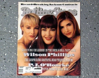 Wilson Phillips - Rolling Stone Magazine Issue# 603  - 1991