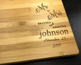 Personalized Cutting Board, Wedding Gift, Engagement Gift, Personalized, Christmas Gift, Wedding Present, Wedding Gift, Gift for couple