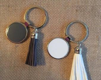 2 Acrylic Keychain With Tassel Your Choice Blank