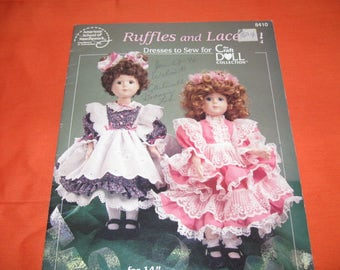 Ruffles And Lace, Dresses To Sew, Doll Dress Booklet, How To Booklet, Craft Booklet, Doll Dresses How To, Vintage Booklet, Sewing Booklet