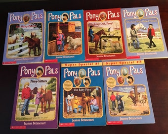 Pony Pals, Jeanne Betancourt, & Between Us, 13 Vintage Books