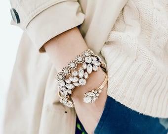 Crystal Bracelet Bridal Bracelet, Bracelet Set, Wedding Bracelet, Statement Bracelet, Bridal Jewelry, Bridesmaid Gift