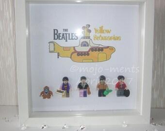The Beatles Lego Mini Figure Picture Box Frame