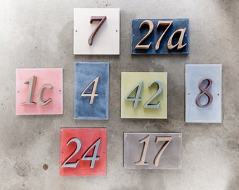 3-digit house number with sample box