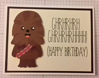 Carte danniversaire Disney Star Wars Chewbacca