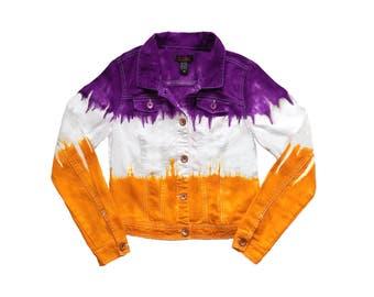Purple + Bright Gold Tie Dye Jacket