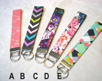 Key fob, wrist lanyard, key chain, keys, key fob wristlet, key bracelet, lanyard, fabric key fob, key fob chain, bracelet key chain