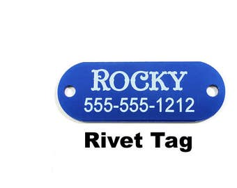 Personalized Pet Tag,Engraved Pet Tag,Laser Engraved,Dog ID Tag,Cat ID Tag,Custom Pet Tag,Rivet Tag