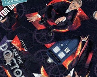 Dr Who fabric, 1/4 metre or more, Online Quilting Fabric Store Australia