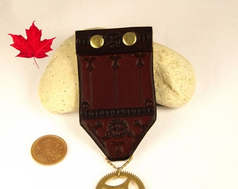 Leather Sky Captain Steampunk / Dieselpunk uniform medal of honor