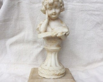 "Girl ""Belle"" Reading Book Marble Statue"