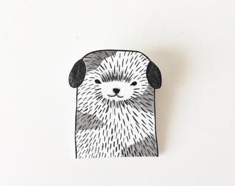 cute handmade dog pin