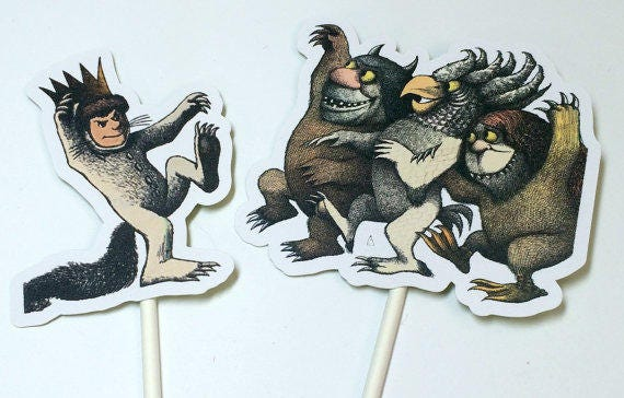 Cupcake Toppers - Where the Wild Things Are,INSTANT DOWNLOAD,Cake Toppers,Printables,Wild Things Birthday,Wild Things,Wild Thing Baby Shower