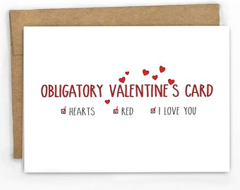 Funny Valentines Day Card | Love Card | An Obligatory Card by Cypress Card Co.