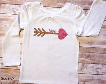 Love Arrow Machine Embroidery Applique Design