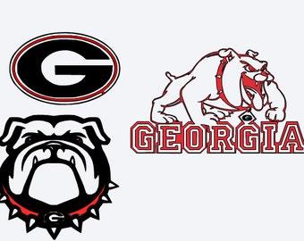 SVG, Georgia bulldogs, bull dogs, university of Georgia, college football, cut file, printable file,  cricut, silhouette, instant download