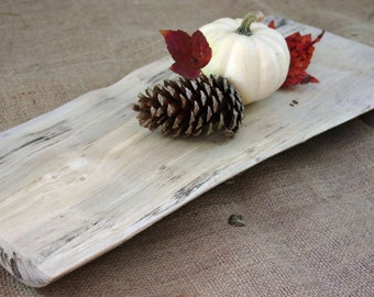 American Holly live edge wood slab with metal feet ( display board, center piece)