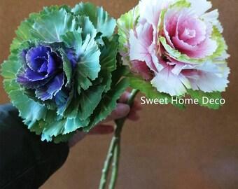 JennysFlowerShop 16''T Silk Brassica vegetables Artificial Greenery Arrangement Decoration