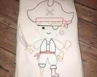 Custom made pirate shirt