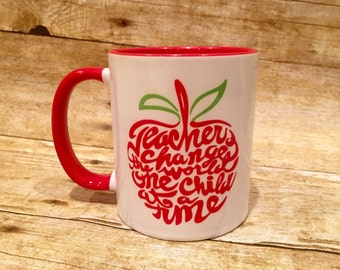 Personalized Teacher Mugs 11oz.