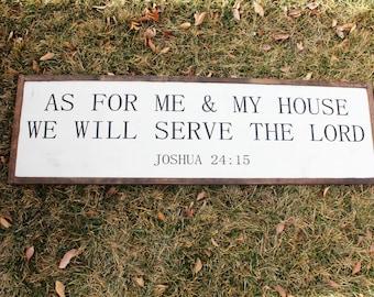As For Me & My House FARMHOUSE SIGN