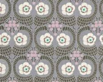 """French Twist in Zinc from Amy Butler's Violette for Free Spirit Fabrics  - listing for 1 Yard 36x""""44""""  FM"""