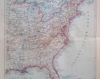 """Lithography, """"United States of America around 1900""""."""