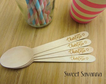 Custom Cutlery- Timber Cutlery - Personalised your cutlery for any event! Eco-Friendly Wooden Cutlery. Forks, Knives & Spoons available