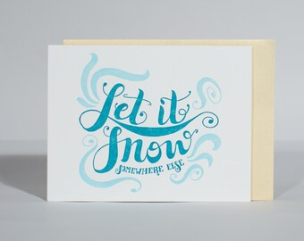 Hand-lettered, Letterpress Holiday Card, A2 Card, Hand-drawn Greeting Card