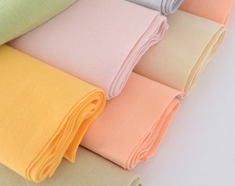 """Cotton rib knit fabric,Ribbing and Binding for Kids' apparel and Cuffs, Neckbands, Hem.9 solid colors available, 55""""--63"""" Width X7.8""""/20cm"""