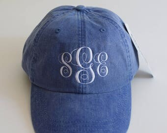 Vine Monogramed Baseball Cap || Embroidered Dog Lover Hat || Monogram Gift by Three Spoiled Dogs Made in USA
