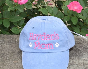Dog Mom Baseball Cap || Embroidered Dog Lover Hat || Custom Personalized Gift by Three Spoiled Dogs Made in USA
