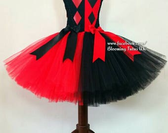 Original Harley Quinn inspired Tutu Dress-Birthday, Party, Photo Prop, Pageant, Fancy Dress, Suicide Squad