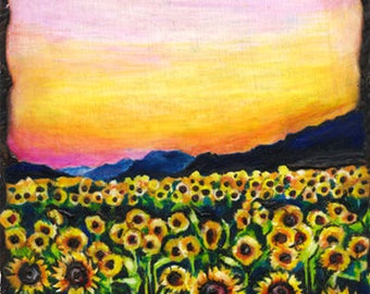 Sunflower Field (print)