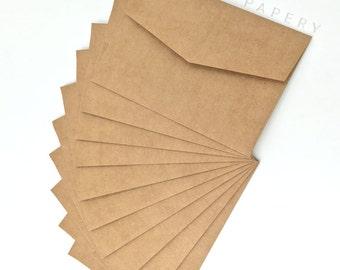 "5x7""/A7 Premium Buffallo Kraft Invitation Envelopes 130mm x 190mm (extra thick)"