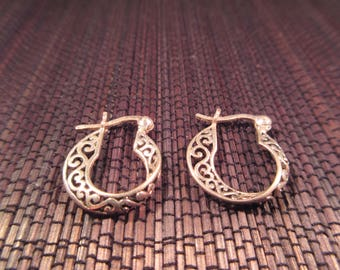 Delicate Sterling Silver Hoop Earrings