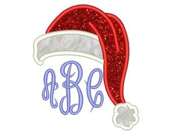 Santa Hat Appliqué Design Christmas Embroidery Designs Machine Applique Embroidery Designs 7 Size - INSTANT DOWNLOAD