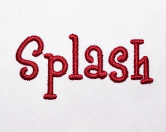 Splash Embroidery Font Machine Embroidery Monogram Font Designs 6 Size Bx Embroidery Fonts - INSTANT DOWNLOAD
