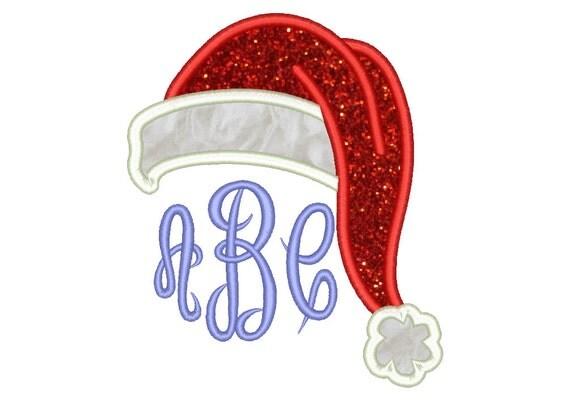 Santa hat appliqué design christmas embroidery designs machine